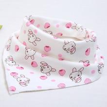 Купить с кэшбэком Cute Baby waterproof bib Bandana Bibs Cartoon Animal Print Cotton Newborn Infant Girls Boys Toddler Triangle Scarf baberos bebe