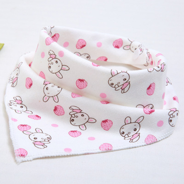 Cute Baby waterproof bib Bandana Bibs Cartoon Animal Print Cotton Newborn Infant Girls Boys Toddler Triangle Scarf baberos bebe