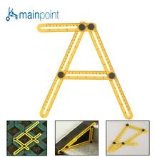 Фотография  Mainpoint Folding Feet Adjustable Four-sided Ruler All Angle Accurate Measuring Instrument Builders Handymen Engineer