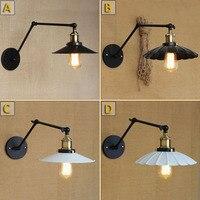 Industrial Loft Iron C D Type Wall Lamp White Cover Balcony Light Bar Light Umbrella Decoration