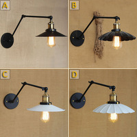Industrial Loft Iron C D Type Wall Lamp White Cover Balcony Light Bar Light Umbrella Decoration