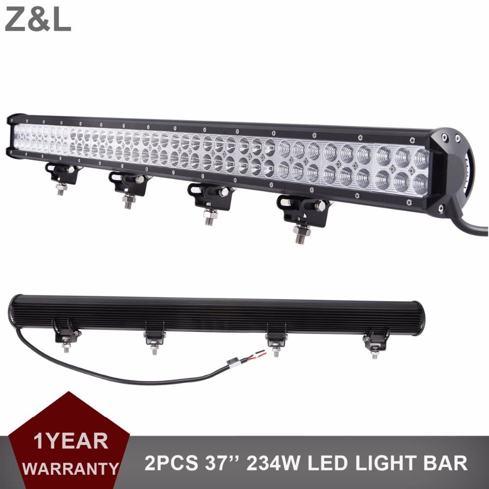 2pcs 234W 37 inch Offroad LED Work Light Bar Combo 12V 24V Car Truck SUV 4WD 4X4 ATV Yacht Trailer AWD Boat Camper Pickup Wagon