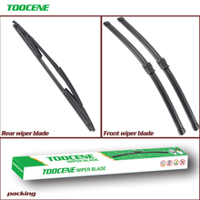 Front and Rear Wiper Blades For Fiat Croma 2005-2011 front Window Windshield Windscreen wiper  24+17+15
