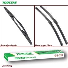 купить Front and Rear Wiper Blades For Fiat Croma 2005-2011 front Window Windshield Windscreen wiper  24+17+15 дешево