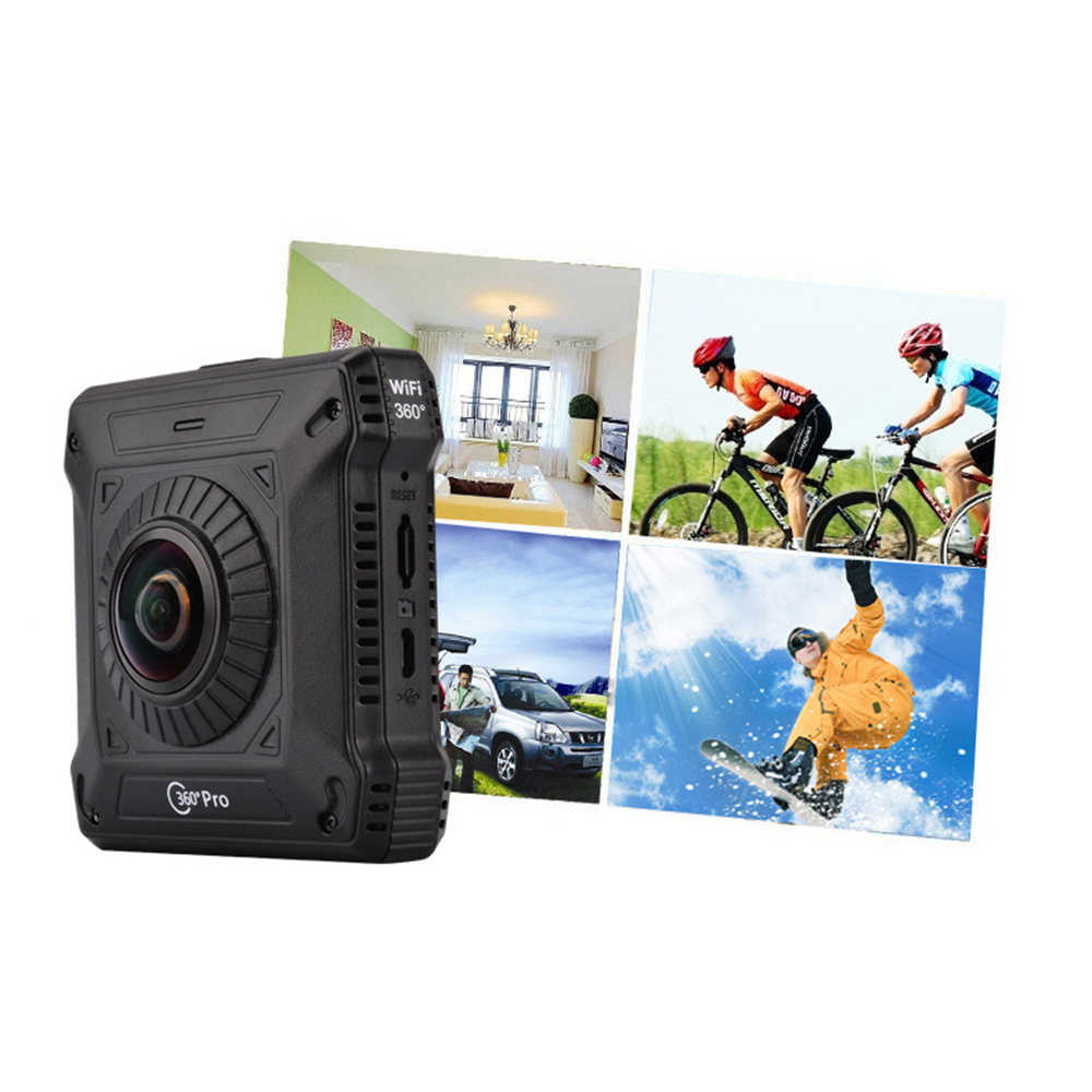 Newest Dual 360 Action VR Video Camera GV720A Recorder WiFi Sports DV Double Sided Fish Eyes