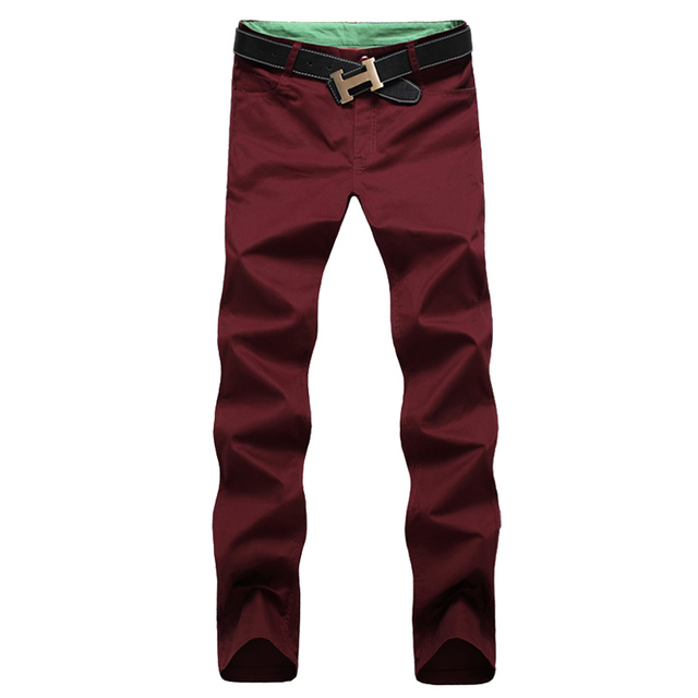2017 Straight Business Casual Men Pants Spring Autumn Male Leisure Long Trousers 28-44 CYG185