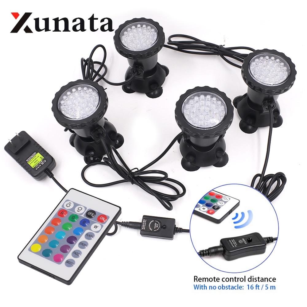 Светодиодный подводный светильник s водонепроницаемая лампа RGB 36 светодиодный s подводный Точечный светильник для плавательного бассейна ф...