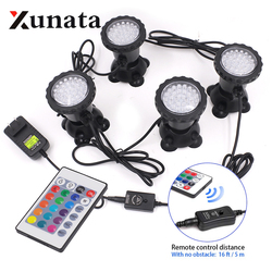 LED Underwater Lights Waterproof Lamp RGB 36leds Underwater Spot Light for Swimming Pool Fountains Pond Water Garden Aquarium