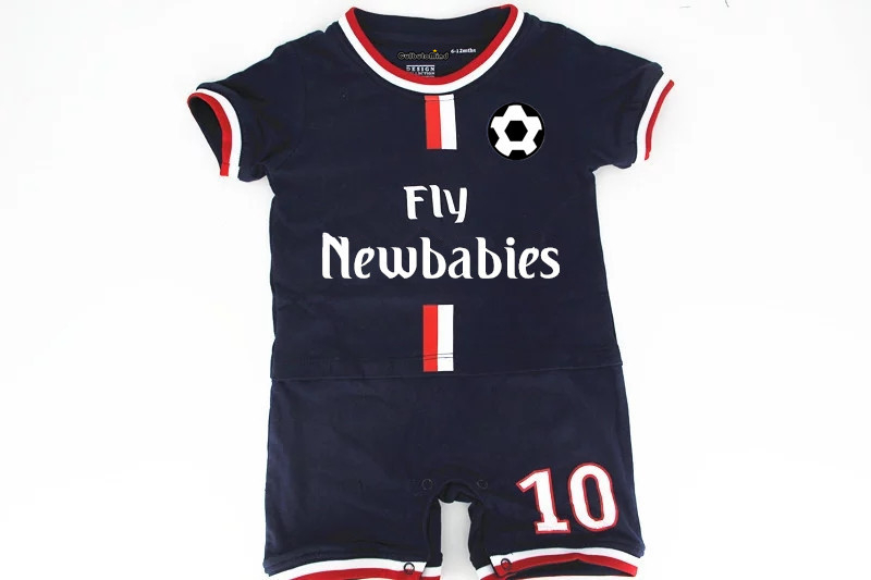 Culbutomind 2018 summer baby clothing boys girl Football sport suit cotton muli color kartoon Short sleeve rompers