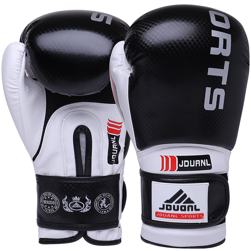 лучшая цена JDUanL Quality Adult Women/Men Boxing Gloves Muay Thai Sanda MMA Sparring Martial Arts Wushu Mitts Kickboxing Equipment DEO