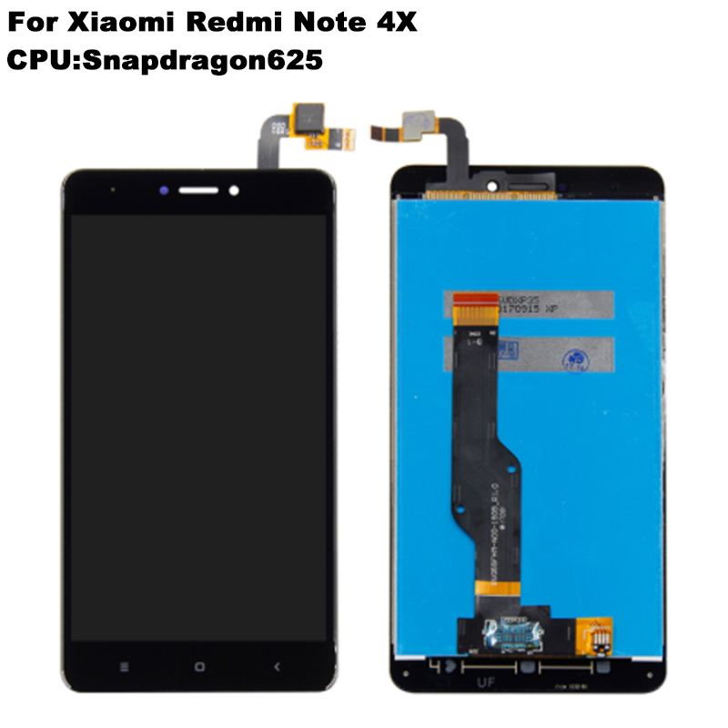 For Xiaomi Redmi Note 4X Note 4 LCD Display Digitizer Touch Screen Frame Assembly note 4x 4 X Global Version Snapdragon 625