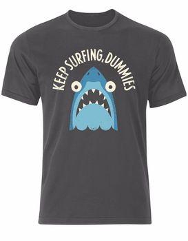 Keep Surfinger, Dummies Shark Beach Ocean Sea Summer Waves Men Tshirt Top AL81 Cool Casual pride t shirt men Unisex New Fashion 1