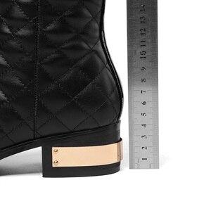 Image 5 - MORAZORA grande taille 34 45 chaude 2020 nouvelle haute qualité genou bottes automne hiver mode cuir bottes femmes moto bottes