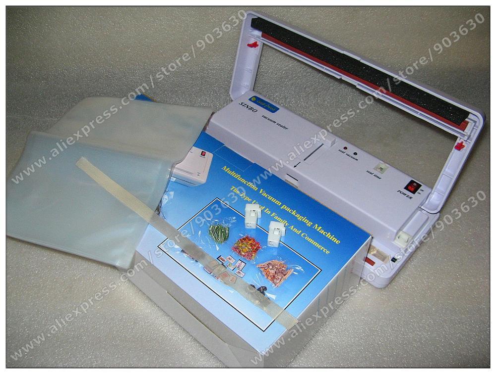 220V/110V SINBO DZ-280 Mini Multi-Functional Household food Vacuum Packing Machine Food Vacuum Sealer 220v 110v sinbo household plasitc bag food vacuum sealing sealer machine dz 280 2se dry or wet environment avaible