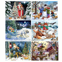 Santa Clause Drill Resin Ribbon Mosaic 5D Diy Embroidery Diamond Painting Merry Christmas 3D Cross Stitch