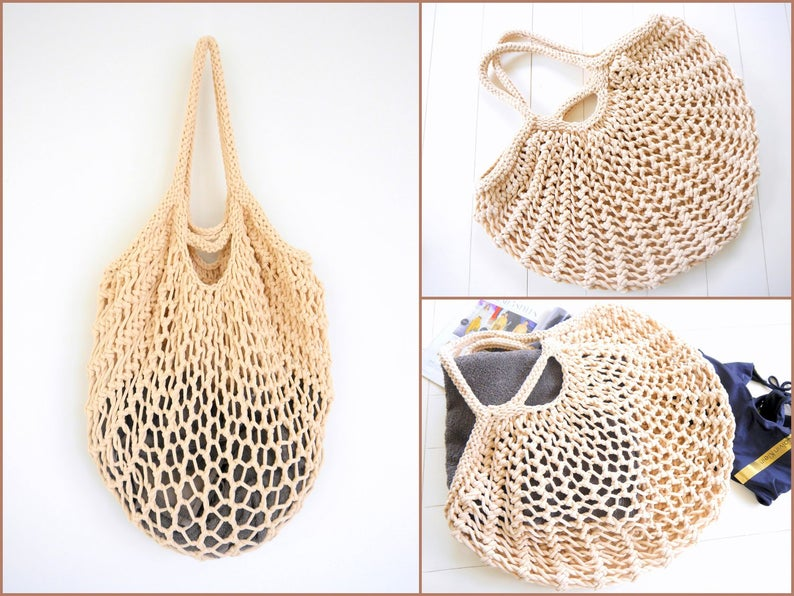 Mesh Net Turtle Bag String Shopping Bag Reusable Fruit Storage Handbag Totes Women Shopping Mesh Bag Shopper Bag