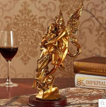 The angel sculpture, home decoration crafts, desktop small place