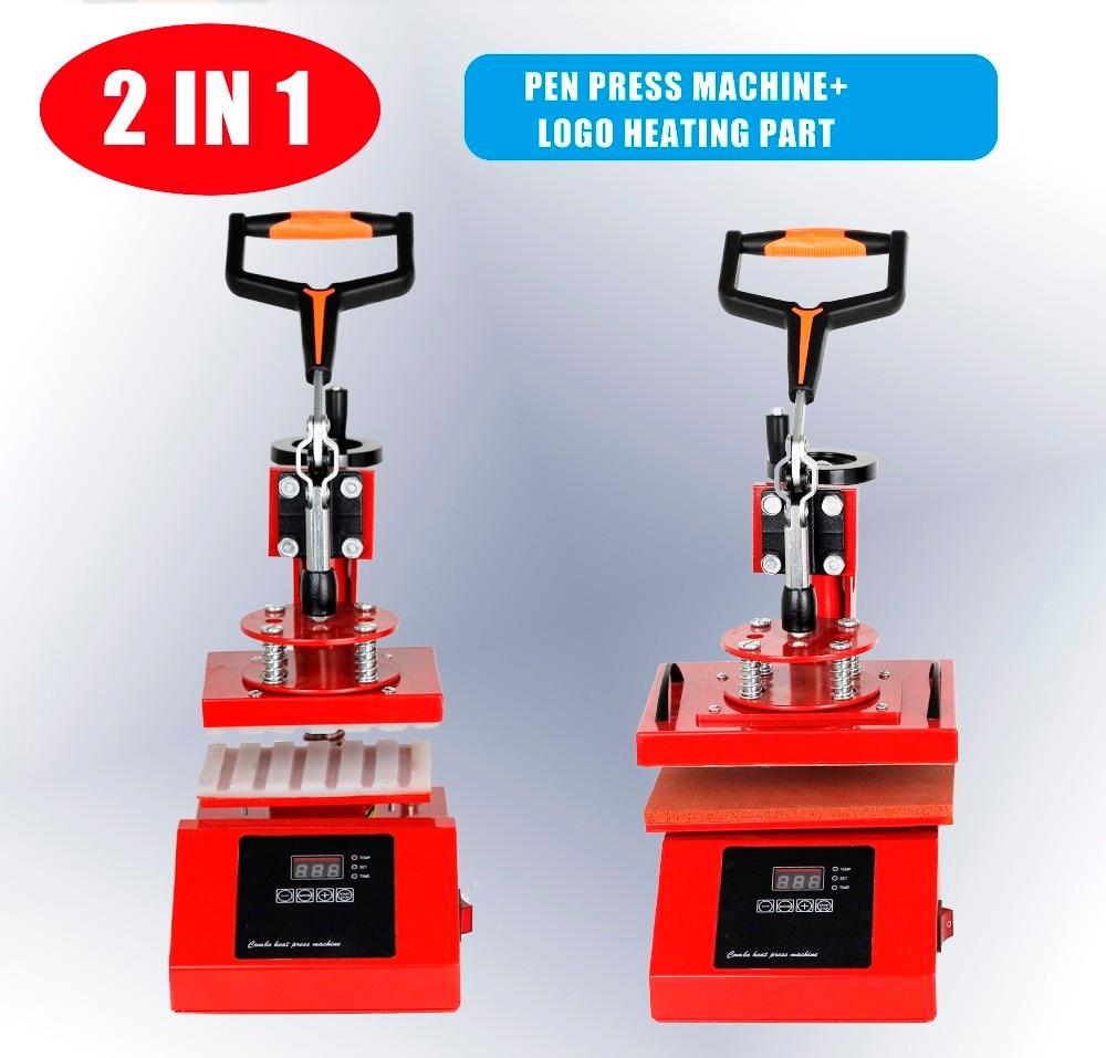 2-In-1 Pen Ball-Pen Heat-Press-Machine Transfer Label/logo DIY