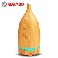 KBAYBO 100ml Essential Oil Diffuser Ultrasonic Humidifier Wood Aroma Air Diffuser Led Lights For Home Cool