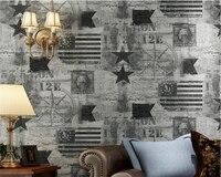 Beibehang Retro Wall Paper Star Washington Pattern Bedroom Living Room TV Background Decorative Wallpaper For Walls