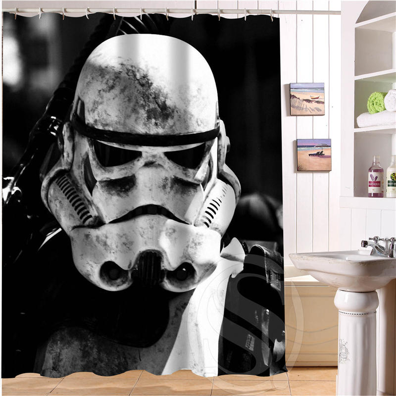 New Hot Custom Star Wars Shower Curtain Bathroom Decor Waterproof Free Shipping SQ0516 P92 In Curtains From Home Garden On