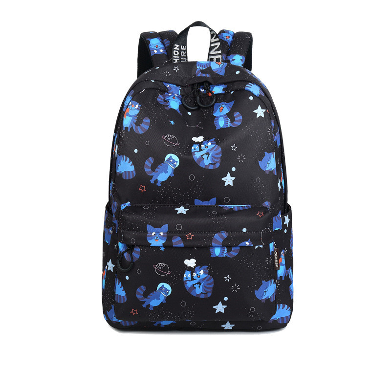 JCPAL Waterproof Women Bags Cute Cat Animal Printing School Backpack for Teenage Girls Large Capacity Knapsack Bagpack Mochila