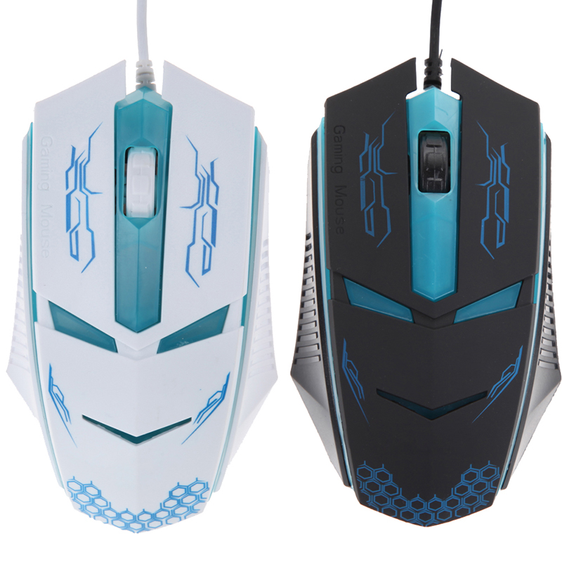 2400 DPI Ergonómico Gaming Mouse 3 Botones LED Óptico USB Con Cable Gaming Mouse