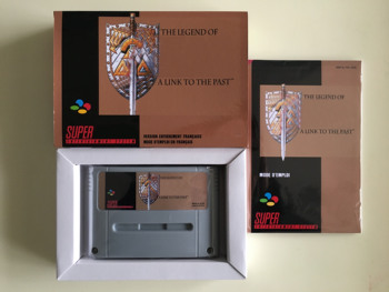 16Bit Games ** A Link to the Past ( French Language!! PAL Version!! Box+Manual+Cartridge!! )