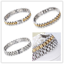 Wholesale price New 8.46″ Hot Sale delicate fashion jewelry Stainless steel 10mm braclets bangle for men's Womens Silver Gold