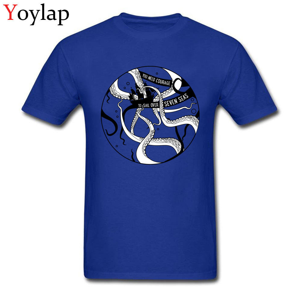 63eb8373 Design Mystic Octopus Mans Stylish Blue T shirts One Piece Deep Sea Monster  Kraken Printed Tops Tee shirt Sailors Courage-in T-Shirts from Men's  Clothing on ...