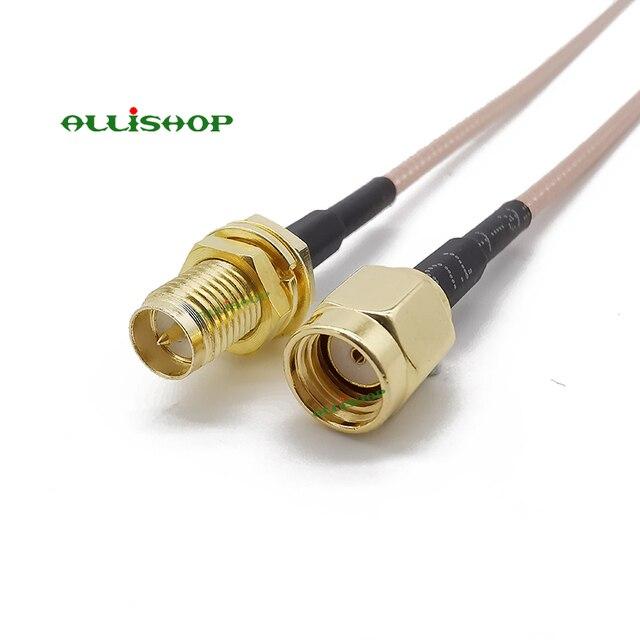 ALLiSHOP w wieku 0-6 Ghz wifi pigtail RP-SMA męski na RP-SMA złącze żeńskie koncentryczne RF gniazdo wtykowe niskie straty RG316 dla FPV anteny routera