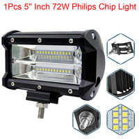 Work Light 12V Work Lamp Tractor Work Light Bar 72W 6000K With CREE LED Chip 5
