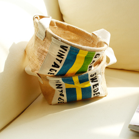 Cotton and Linen Flag Waterproof Receive A Barrel/receive Bag/receive Basket Manufacturer Supply Direct Selling 0075