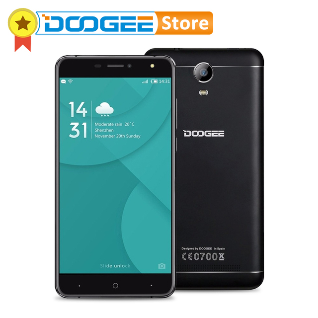 Оригинал DOOGEE X7 Pro 6.0 ''HD Экран ОЗУ 2 ГБ ПЗУ16 ГБ MTK6737 смартфон Quad Core Android 6.0 OTG 4 Г LTE WCDMA телефоны