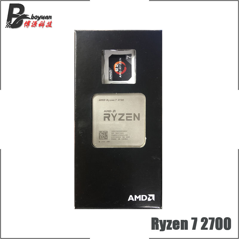 Image 3 - AMD Ryzen 7 2700 R7 2700 3.2 GHz Eight Core Sinteen Thread CPU Processor L3=16M 65W YD2700BBM88AF Socket AM4 New and with fan-in CPUs from Computer & Office