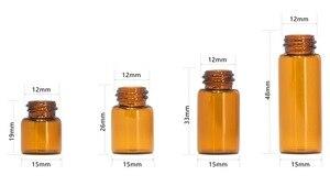Image 5 - 100 Drams יח\חבילה 1 ml 2 ml 3 ml 5 ml בקבוק זכוכית ענבר עם מכסה אלומיניום זכוכית שמן אתרים בדיקת מדגם בושם בקבוקי בקבוק