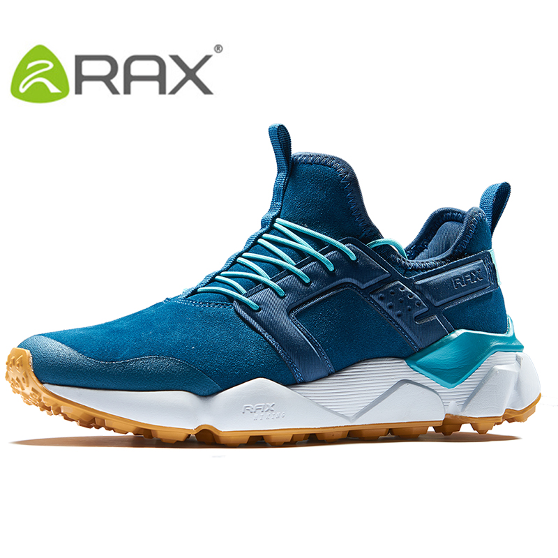 RAX 2018 Mens Winter Suede Leather Cushioning Hiking Shoes Antiskid Rubber Outsole Water-Resistent Classic Style Shoes for Men