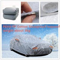 Universal Sedan SUV Car Cover PEVA Cotton Double Layer Waterproof Rain Snow UV Dust Protective Outdoor Car Cloth Tent
