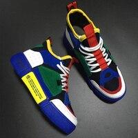 Allwesome/мужские высокие модные туфли в стиле ретро; обувь на массивной красной подошве; яркие кроссовки на платформе в стиле хип-хоп; Уличная о...