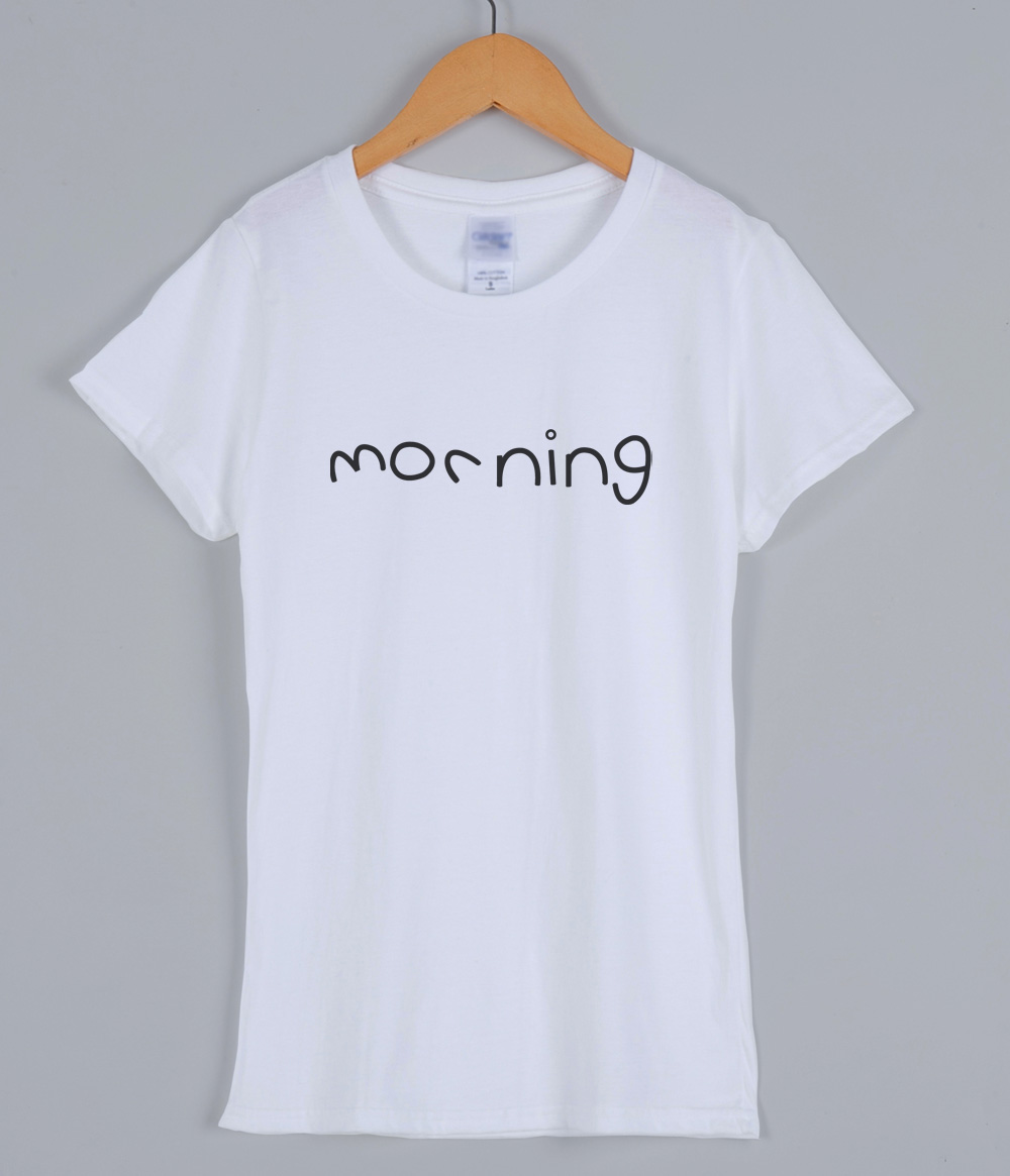 Summer T-shirts for women 2019 new arrival cotton female T-shirt MORNING letter print funny tshirt casual harajuku top shirt