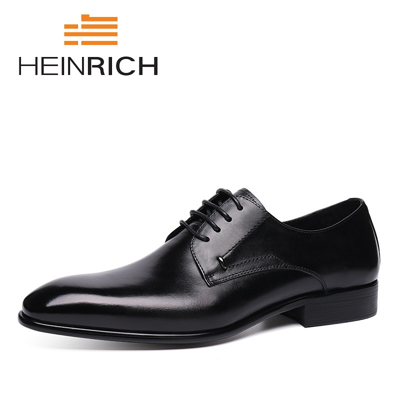 HEINRICH Spring/Autumn Vintage Style Formal Shoes Derby Dress Shoes Men High Quality Classic Business Shoes Sepatu Kantor Pria heinrich spring autumn vintage style formal shoes derby dress shoes men high quality classic business shoes sepatu kantor pria