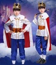 цена Adult&Kids Boys King Cosplay Costume Halloween Prince Cos Costume Birthday Gift For Men&Boys Outfit Role Play Plus Size 5XL в интернет-магазинах