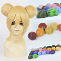 Bun Clip in on Elastic Net Hair Ball Drawstring Hairpieces Cosplay Natural Daily Ball hair Full Lace Human Synthetic Wig