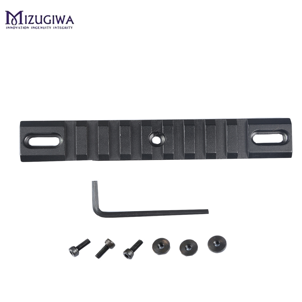 MIZUGIWA 9 Slots Tactical Picatinny Rail Weaver Scope Mount 20mm Adapter Mount With Wrench For Airsoft Hunting Mount Base