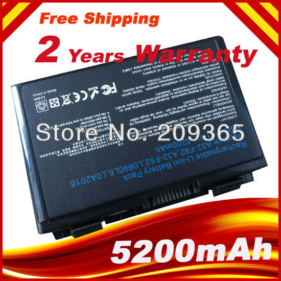 4400 мАч k50in 6 Cell Аккумулятор для Asus K40/F82/A32/F52/K50/K60 A32-F82 L0690L6 k40in k40af k50ij