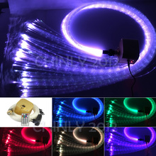 16W Remote RGBW Twinkle sparkle fiber optic decoration 300pcs 1.0mm flash point 3meter waterfall sensory light kit