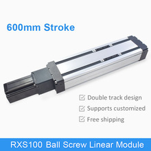 horizontal vertical usage cnc motorized actuator linear module 600mm length with stepper motor