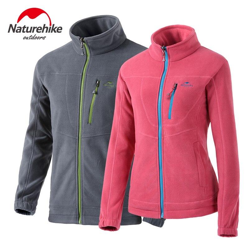 Naturehike Winter outdoor fleece jacket Men and women thermal couples coat cardigan polar fleece ski-wear tank