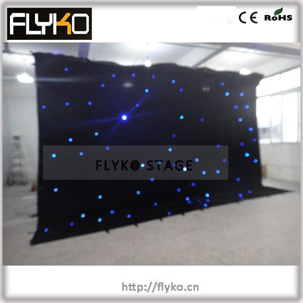 4 x 6 m azul cortina blanca rgb luz llevada a todo color de la cortina
