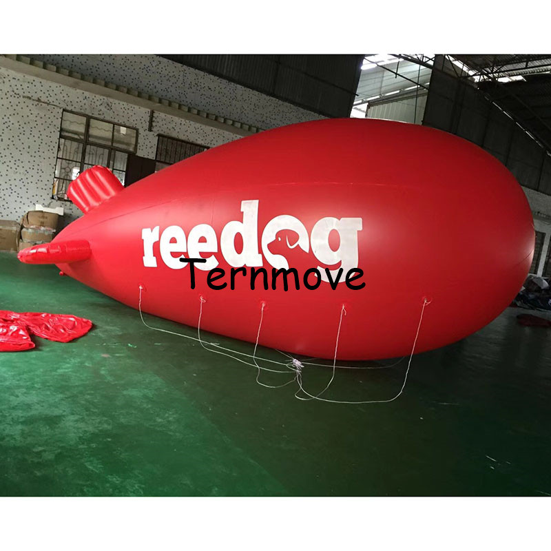 6 M /19.6FT Long Inflatable Advertising pvc helium Blimp Inflatable Zeppelin/Airship airplane with your Different Logos
